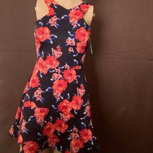 love...ady floral dress halter